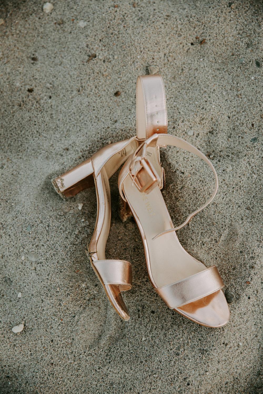 Beach Fort Qu'Appelle wedding shoes