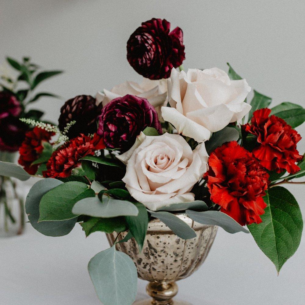 Burgundy wedding