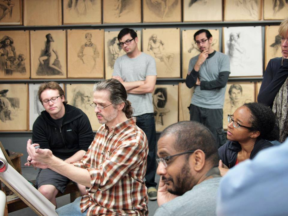 Glen Orbik teaching at the California Art Institute