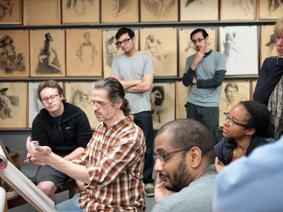 Glen Orbik teaching at the California Art Institute