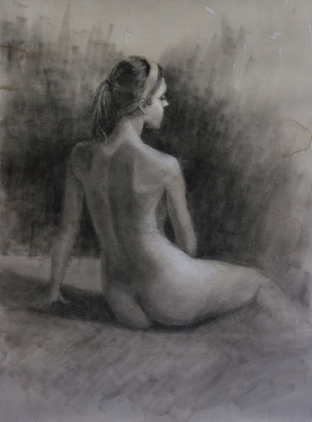 Charcoal drawing demo by George Paliotto