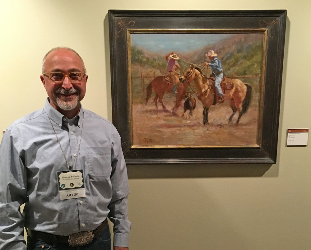 George Paliotto at the C.M. Russell Museum Auction 2015