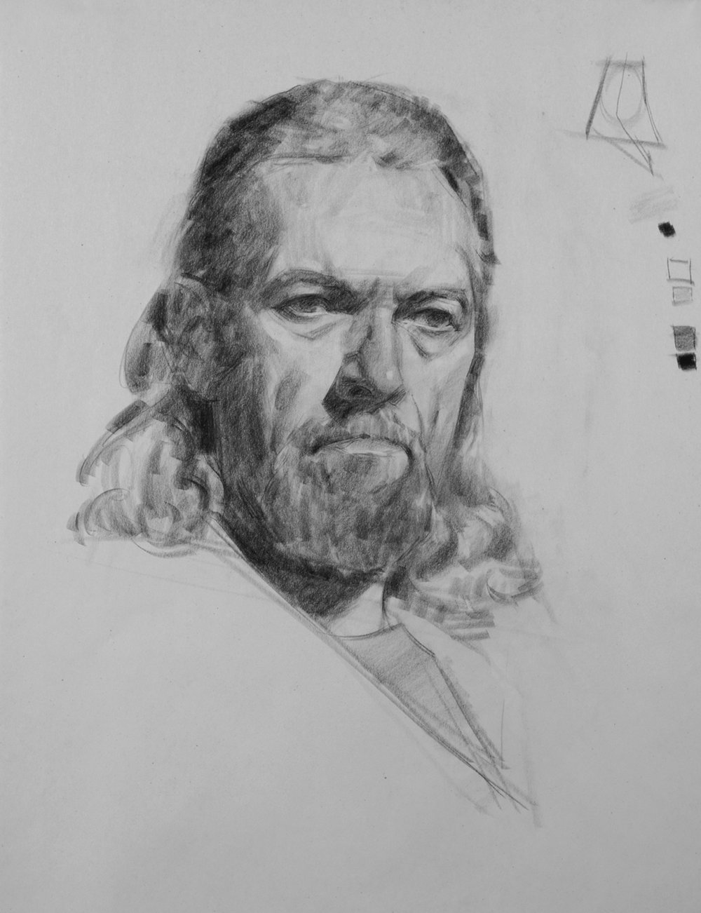 Charcoal Class demo by Mark Schwartz
