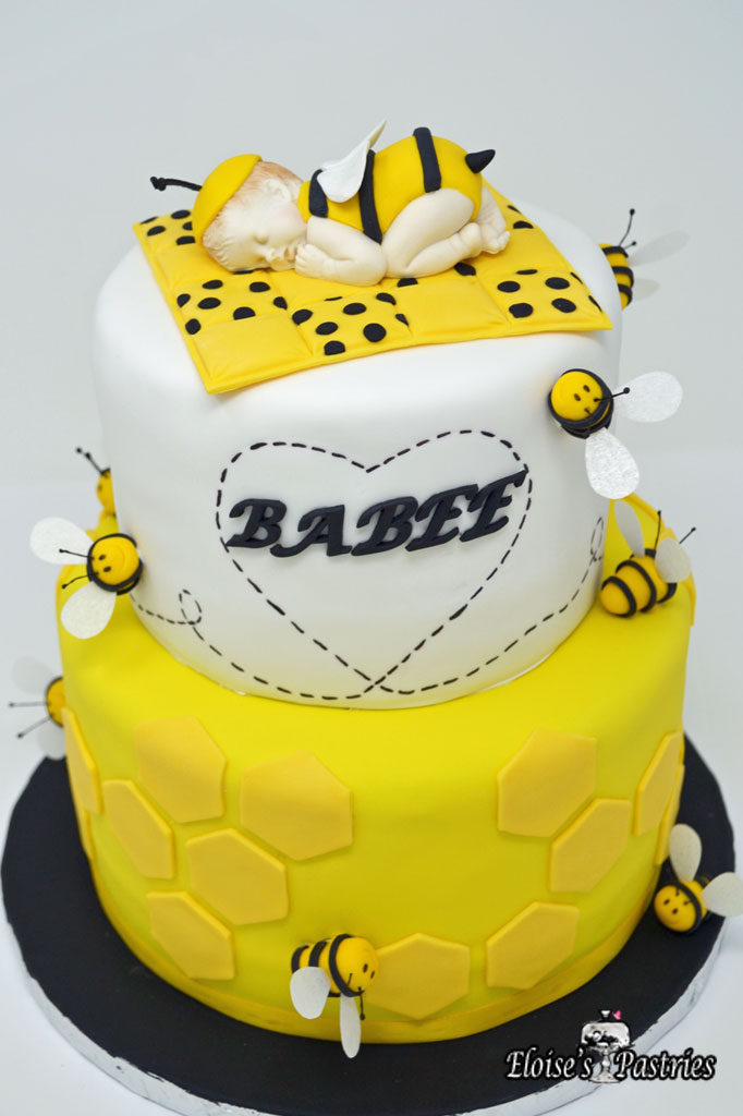 Babee Bee-themed Baby Shower Cake