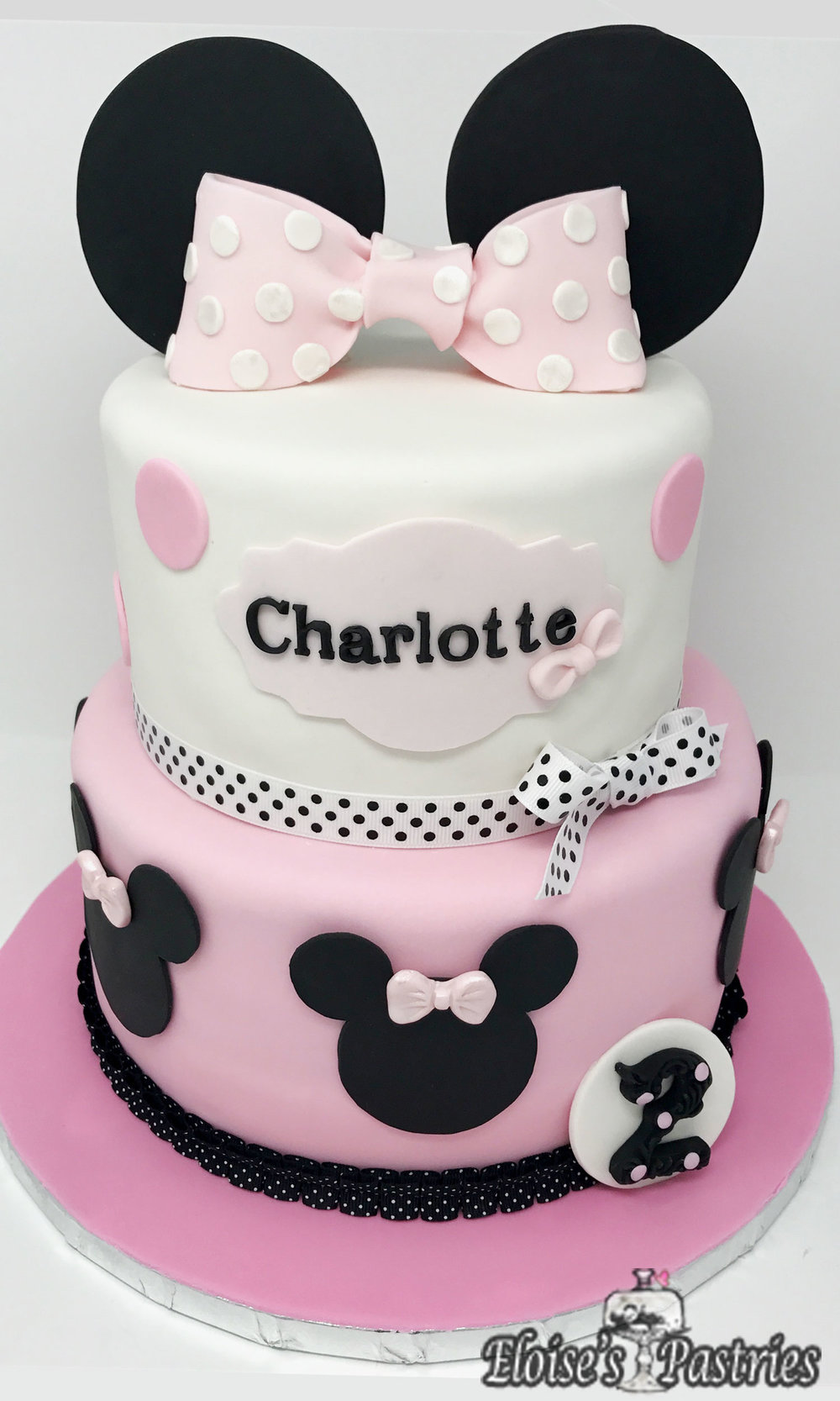Minnie Mousse Inspired Birthday Cake