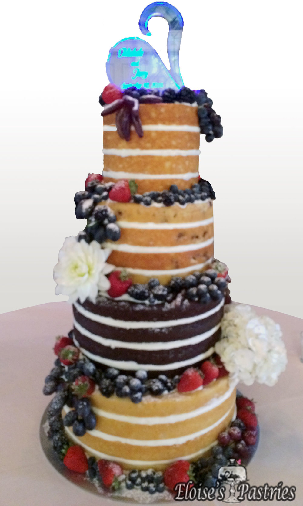 Berries & Strawberries Naked Cake