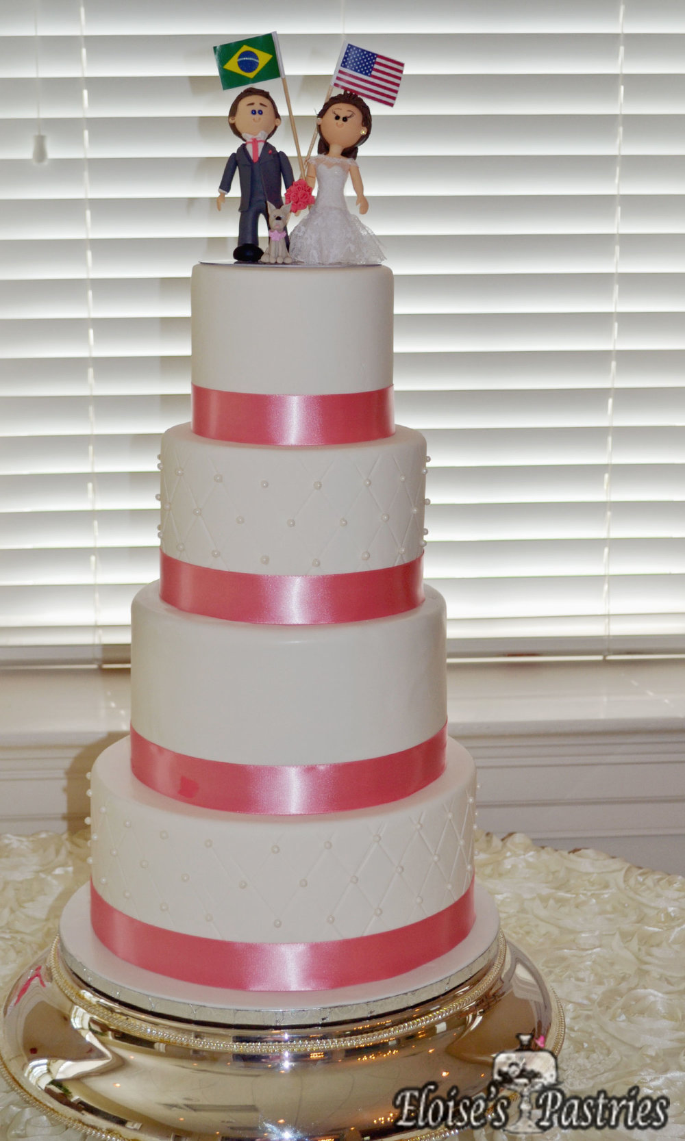 Pink Ribboned Cake
