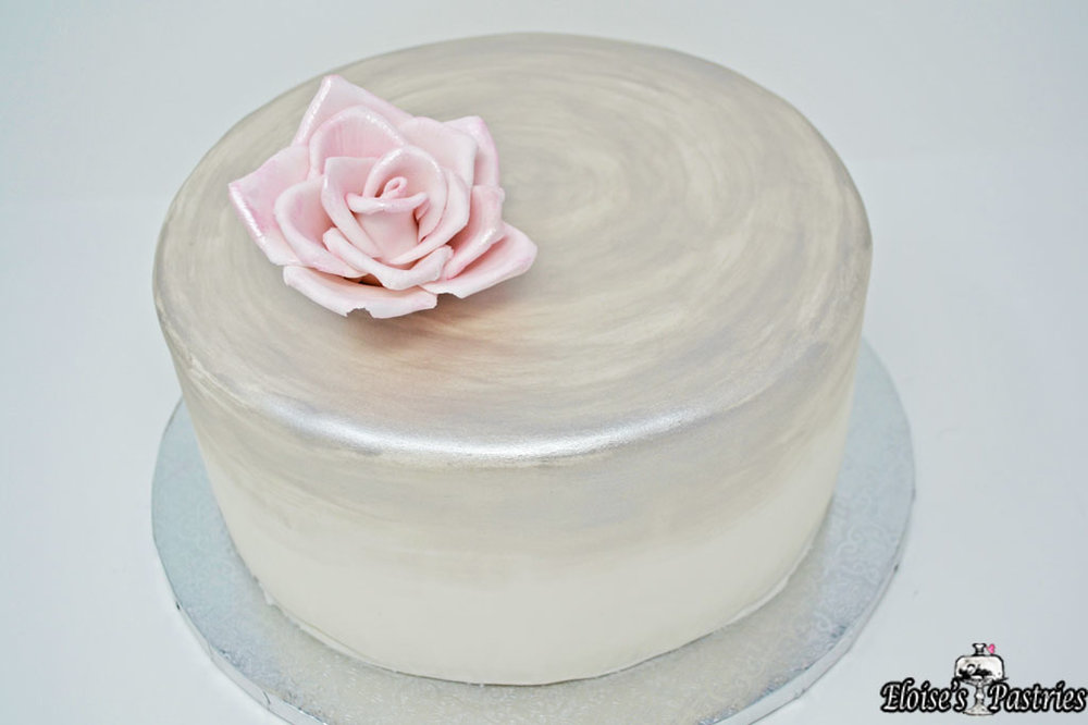 Simple Design Bridal Shower Cake