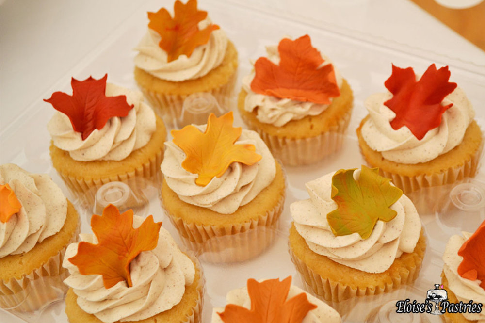 Autumn Leaves Cupcakes