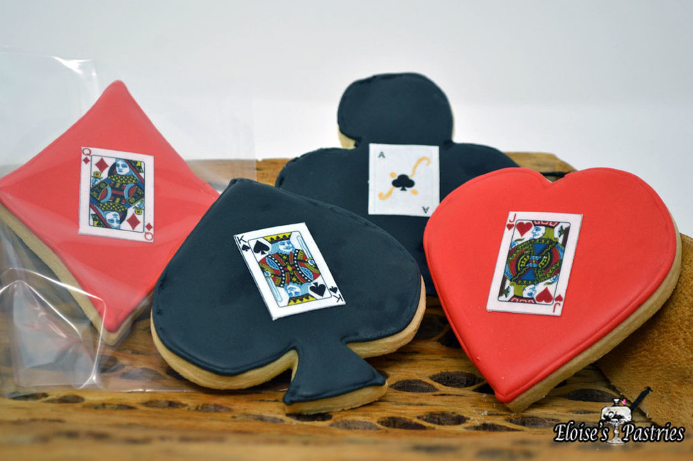Suit/Face Card Cookies