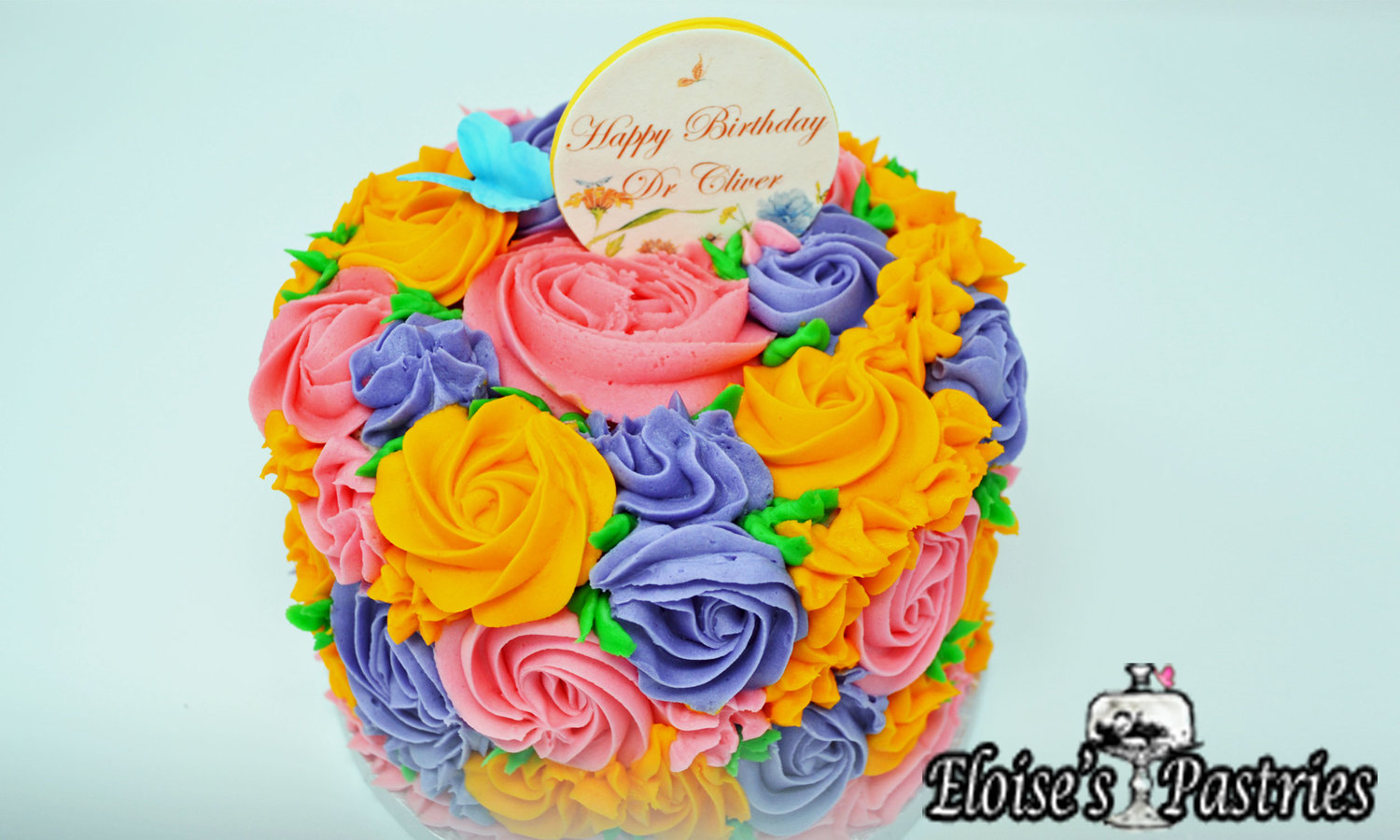 Birthday cakes gallery eloises pastries all over floral cake izmirmasajfo
