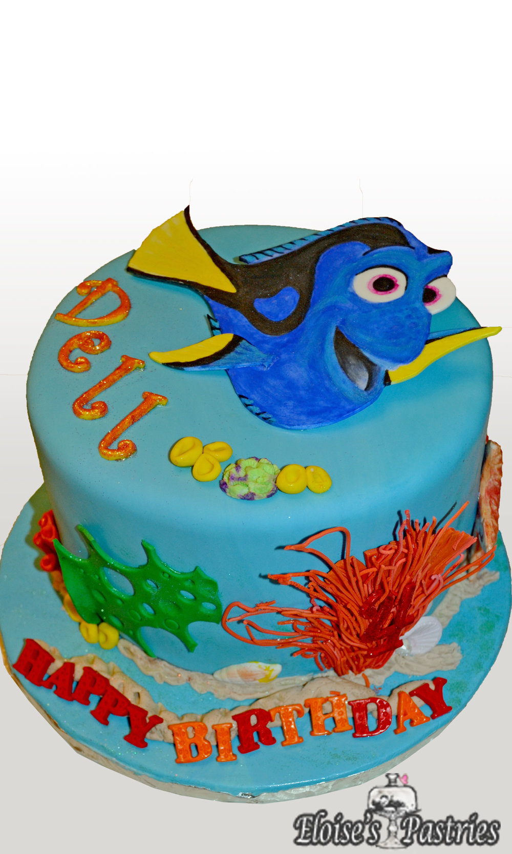 Finding Dory Themed Birthday Cake