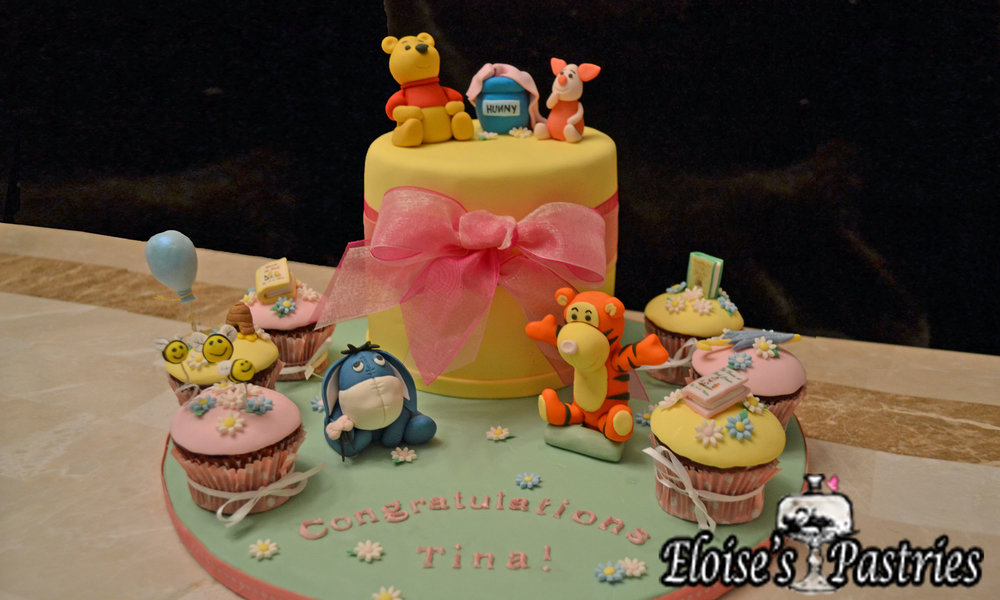Winnie the Pooh Themed Baby Shower Cake