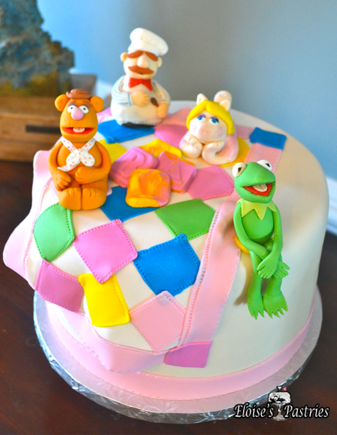 Muppets Themed Baby Shower Cake