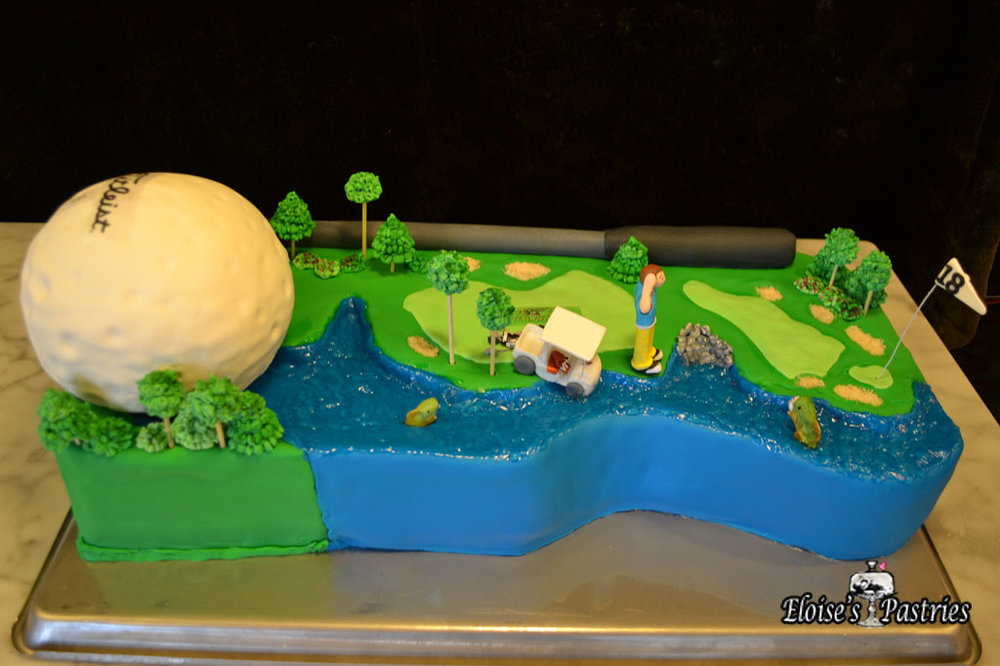 Golf Themed Groom's Cake