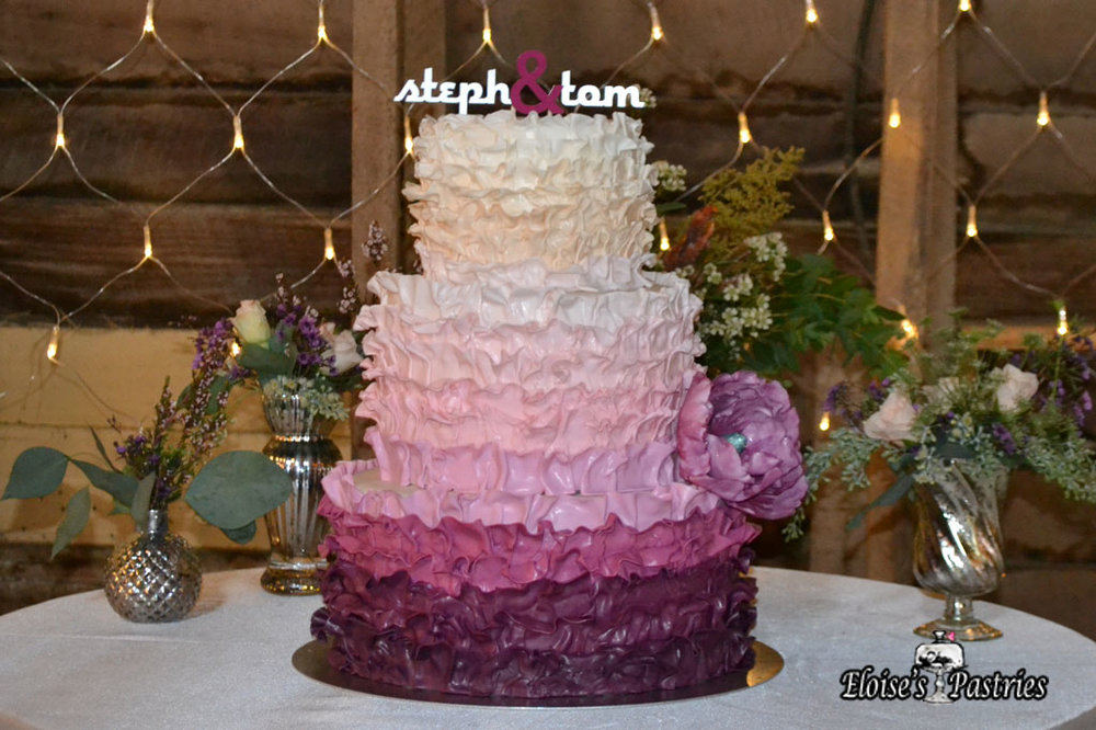 Textured Ombre Cake