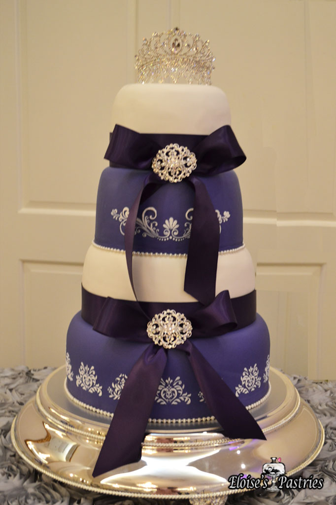 Purple & White Royalty Cake
