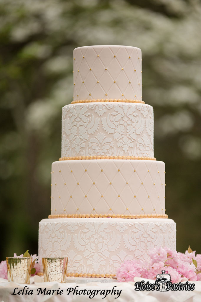 Pink Quilted Textured Cake