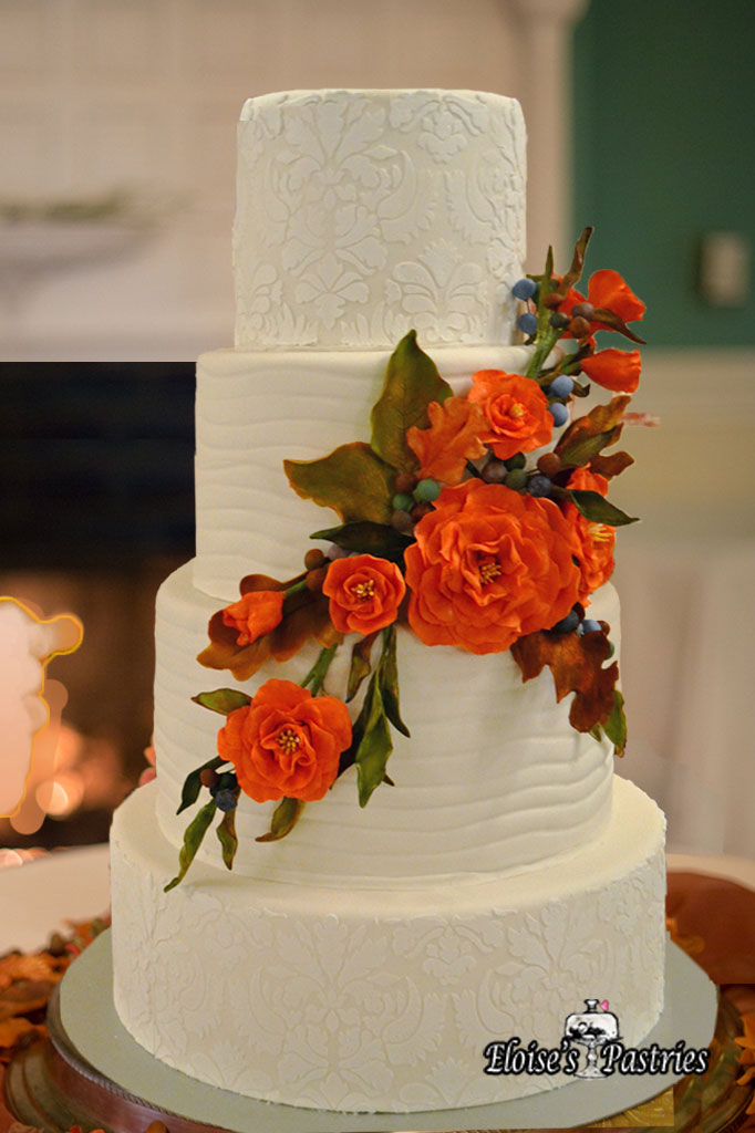 Textured Floral Cake