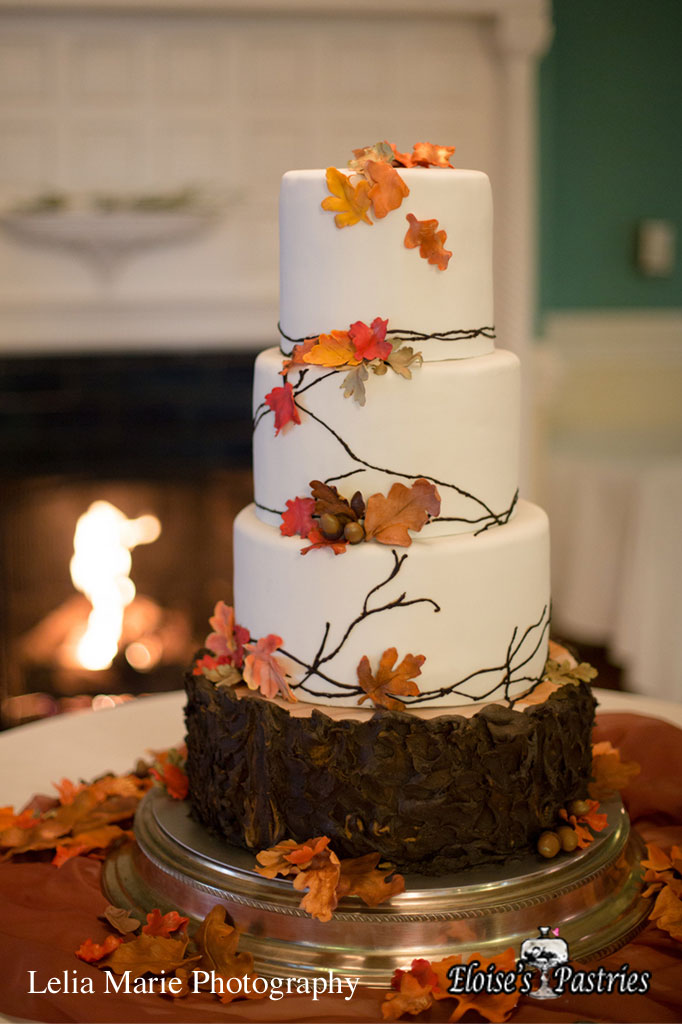 Autumn Leaves Textured Cake