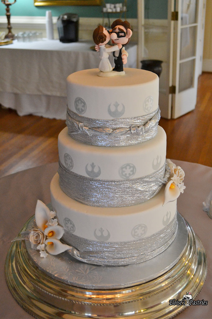 Silver Ribboned Cake