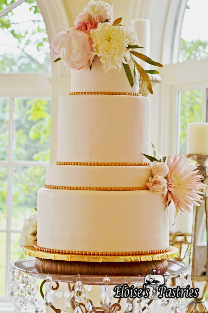 Stunningly Simple Floral Cake