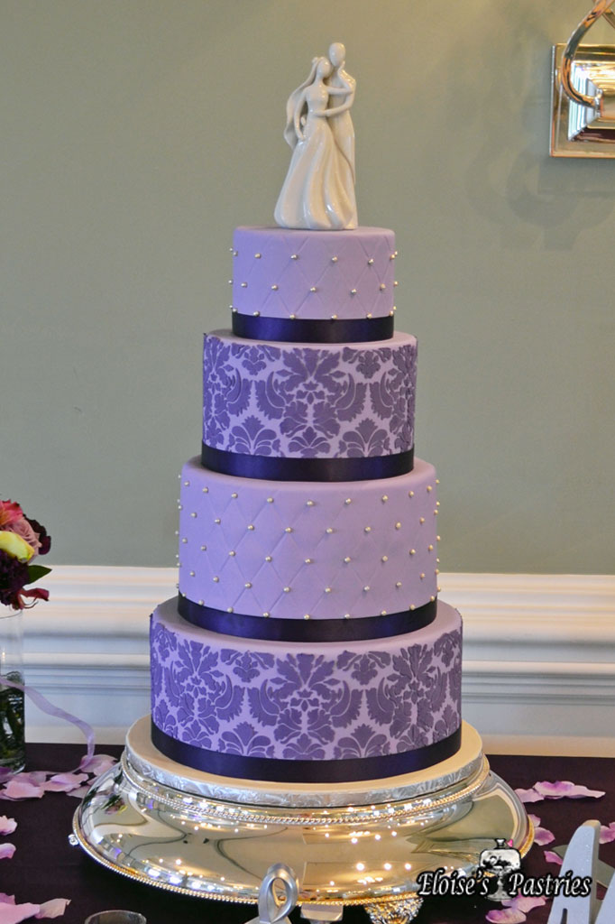Purple Quilt Textured Cake