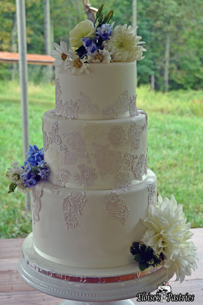 White Lace Design Cake