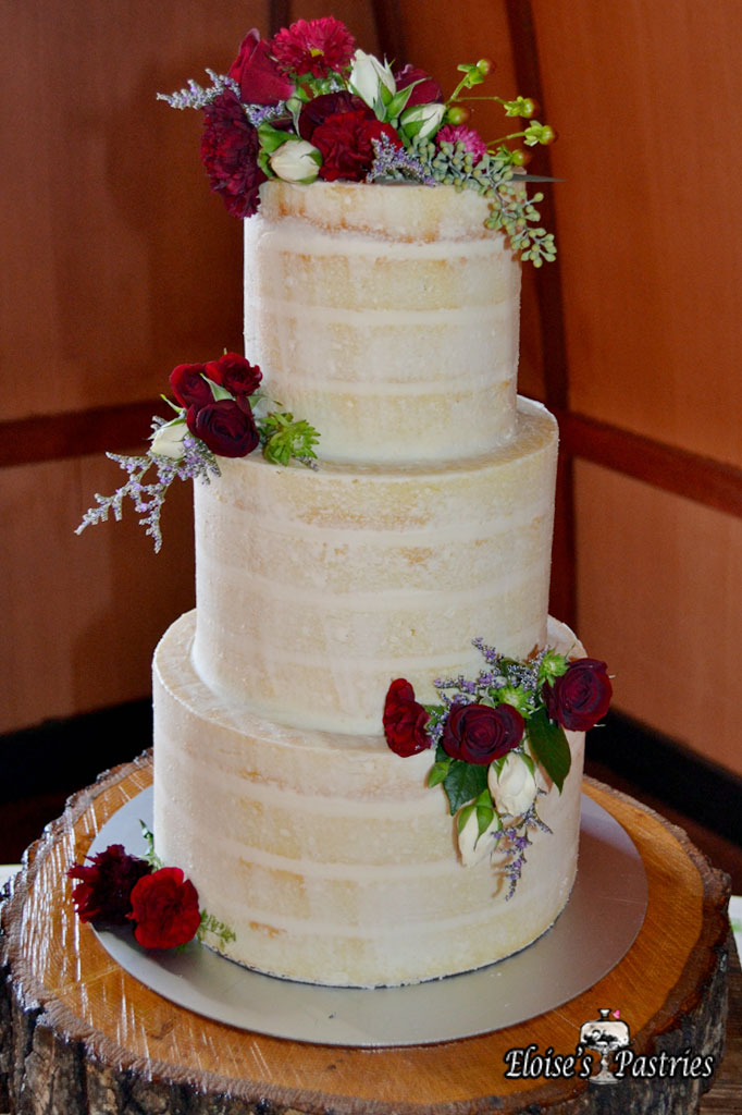 Enchanted Rustic Naked Wedding Cake
