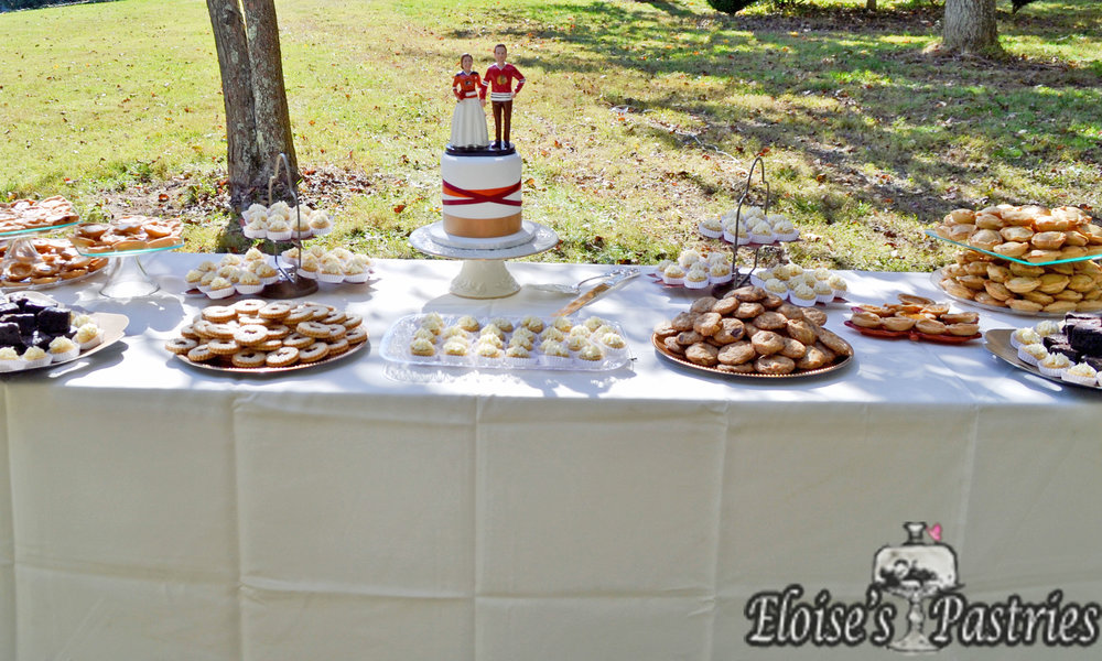 Intimate Wedding Cake and Dessert Bar