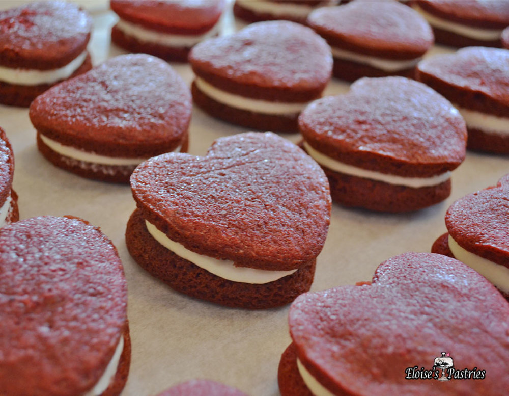 Heart Shaped Whoopee Pies