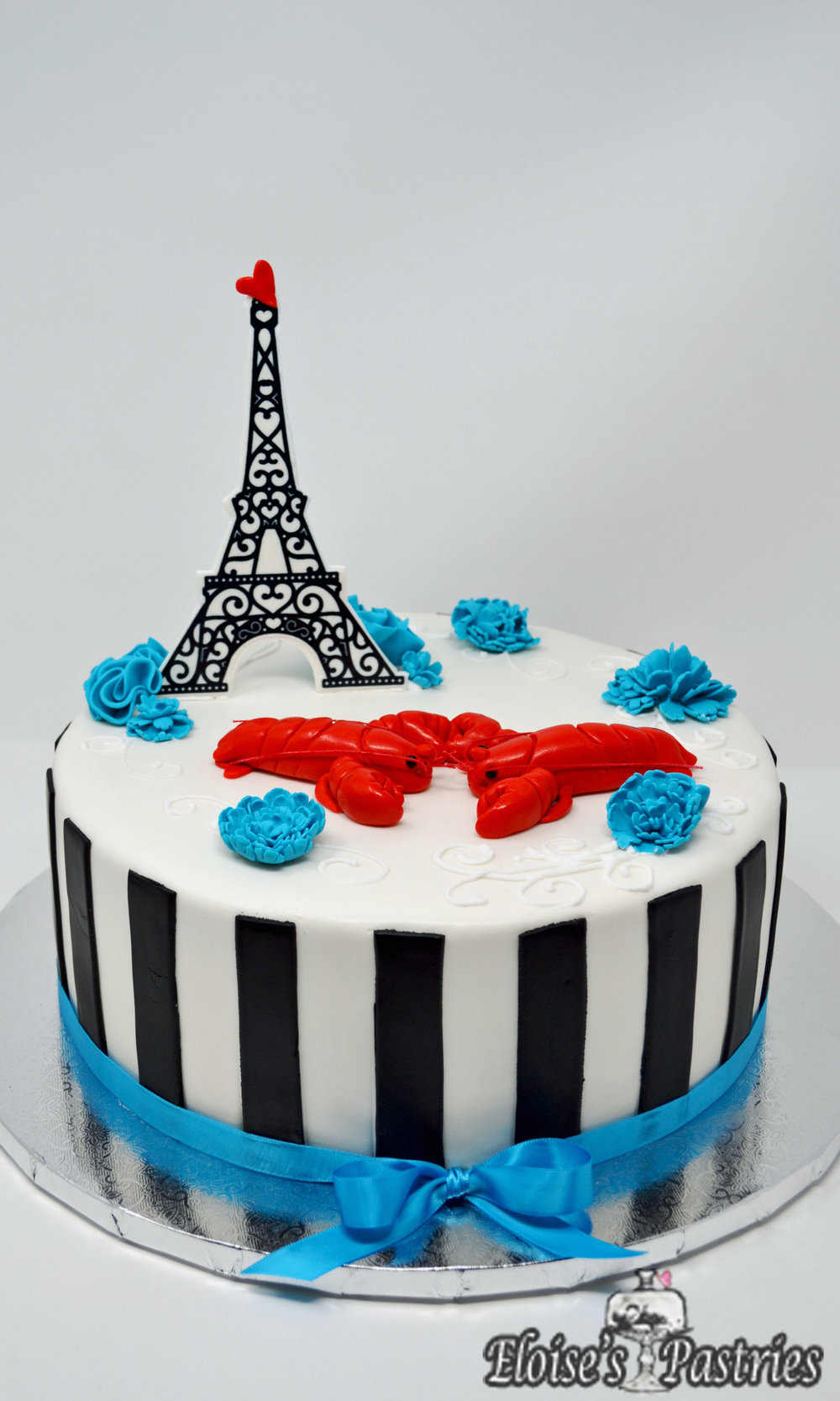 Parisian Lover's Engagement Cake