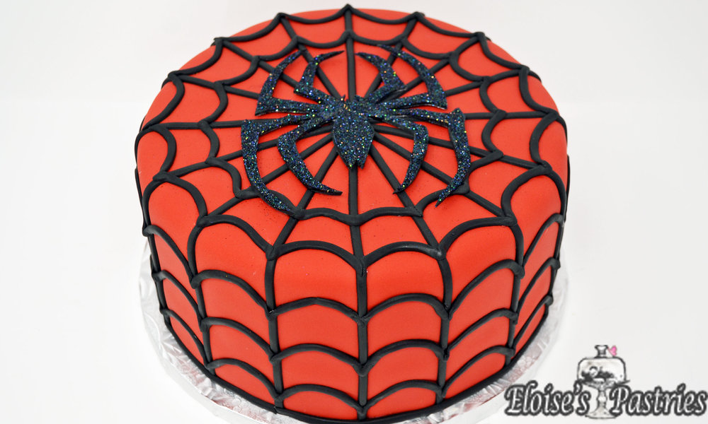 Spiderman Groom's Cake