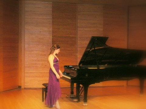 Rachel's final recital at Brandon University in January 2008.