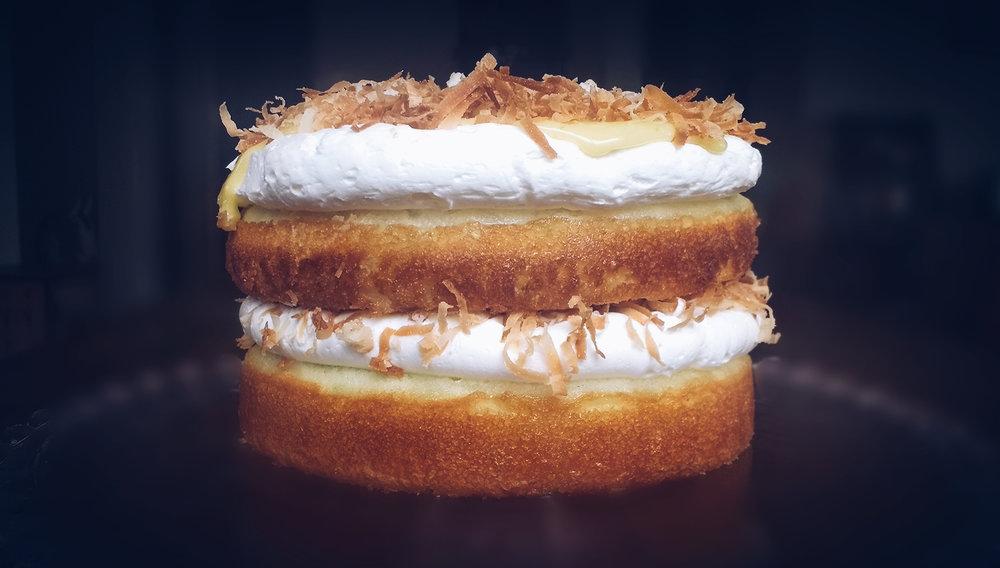 Beneath the Crust: lime & coconut cake