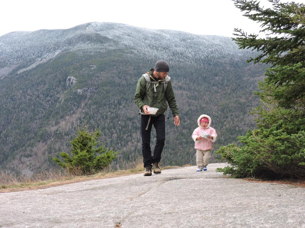 We didn't last long on the summit of Mt. Willard.