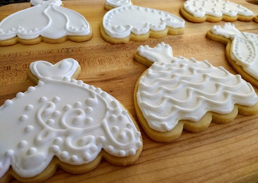 Beneath the Crust: Iced Wedding Dress Sugar Cookies