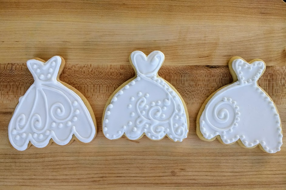 Beneath the Crust; Iced Wedding Dress Sugar Cookies