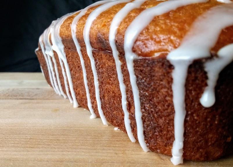 Beneath the Crust: Yogurt Cake with Citrus Glaze and Yogurt Drizzle