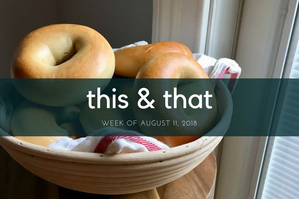 Beneath the Crust: This and That, Week of August 11, 2018