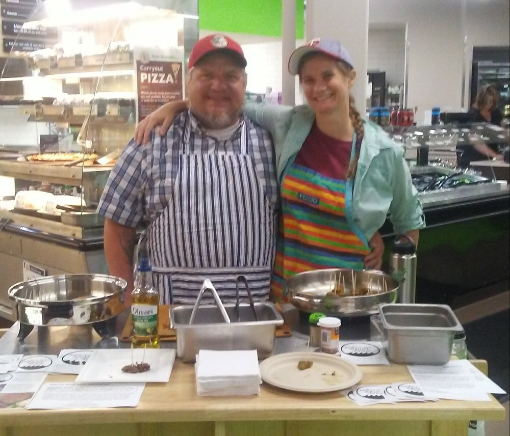 SSB Founders Shane & Gail at Whole Foods Co-Op Denfeld.