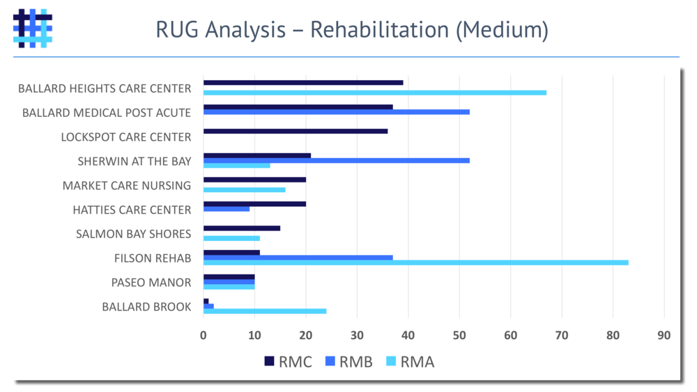 Nursing Home and Skilled Nursing Facility Resource Utilization Group (RUG) Analysis - Rehabilitation - Medium