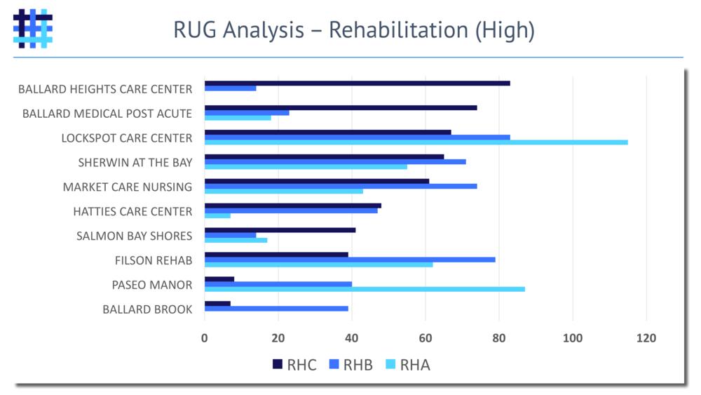 Nursing Home and Skilled Nursing Facility Resource Utilization Group (RUG) Analysis - Rehabilitation - High