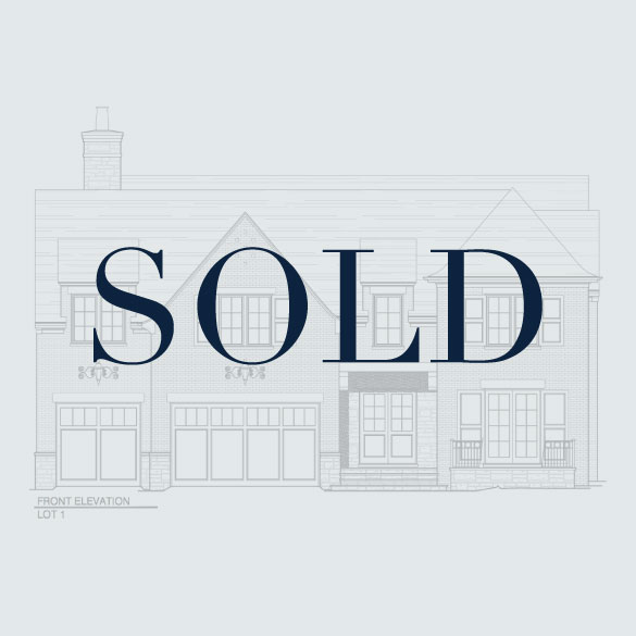 SOLD Lot 1: 1915 Wyndale Court  4 Bedrooms, 4.5 Bathrooms 4,503 Finished, 1910 Unfinished SF