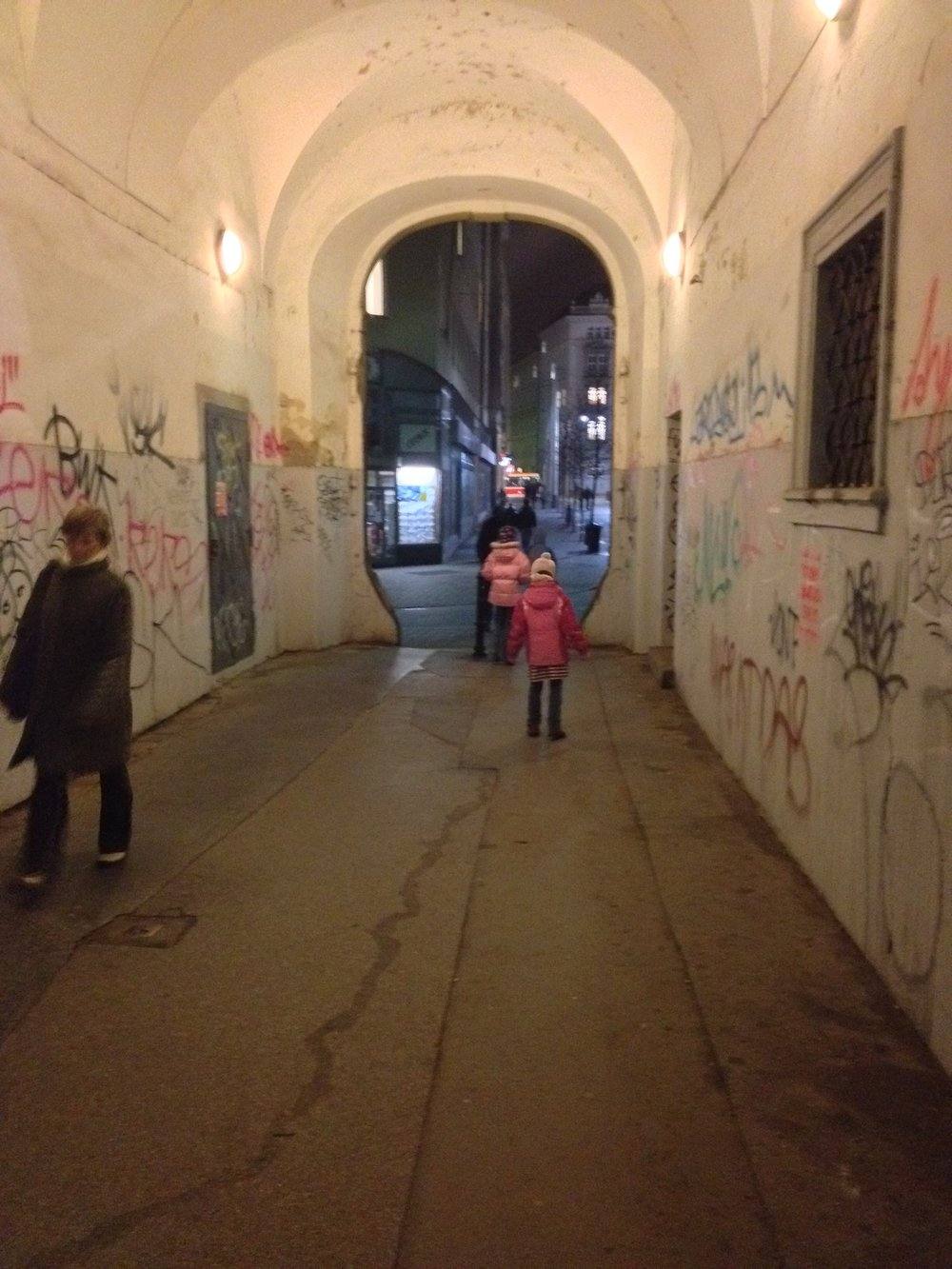 Nine feet of graffiti give rise to ornate old buildings throughout the city.