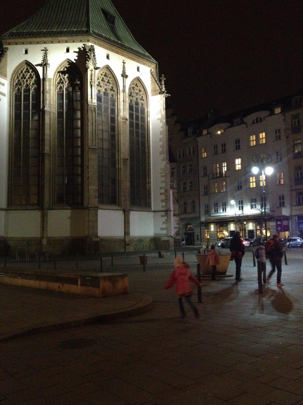 On our journey back to the car we pass by St. James Church, which we think is perhaps Brno's most beautiful building.