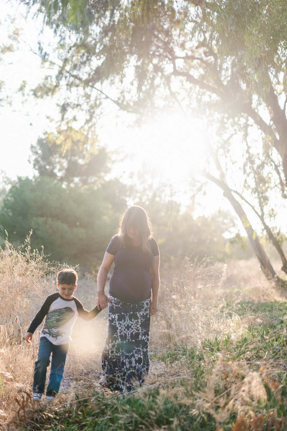 Family Photos in Los Angeles County in a field