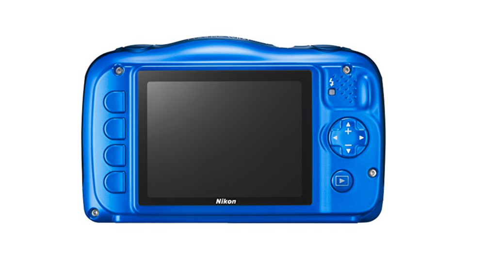 blue kids waterproof camera