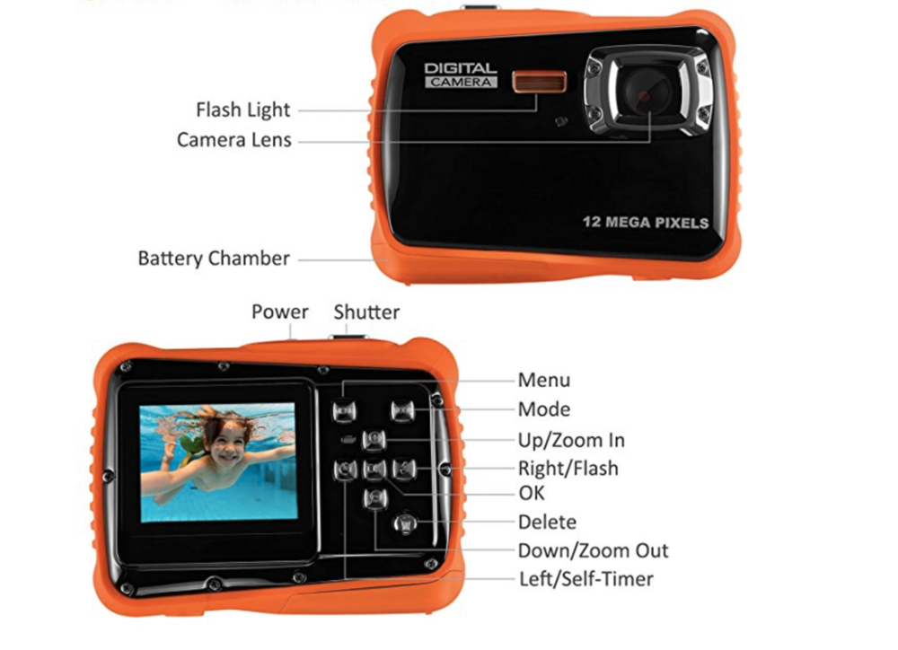 orange digital camera for kids