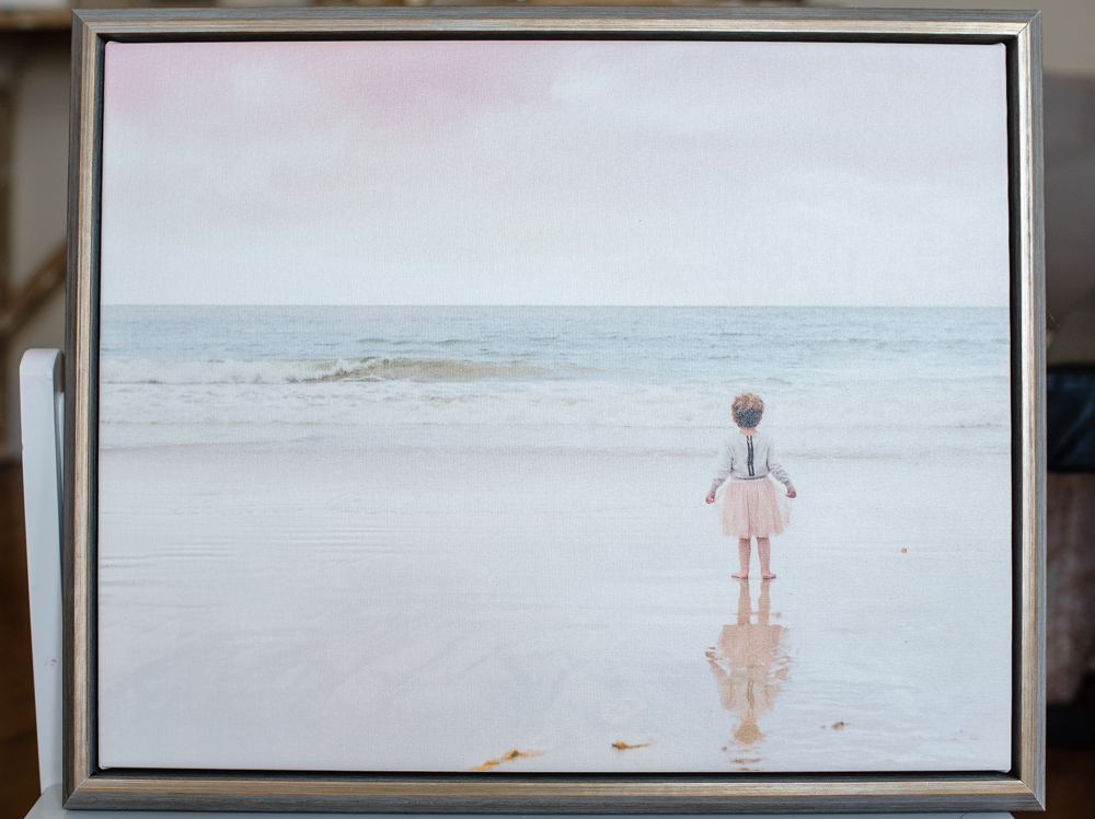 wall canvas framed with portrait of a young girl